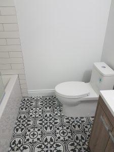 Water efficient toilet.
